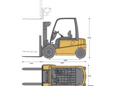 Caterpillar EP9000 Electric pneumatic tire lift truck
