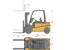 Caterpillar EP10000 Electric pneumatic tire lift truck