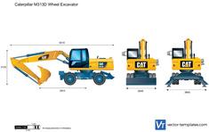 Caterpillar M313D Wheel Excavator