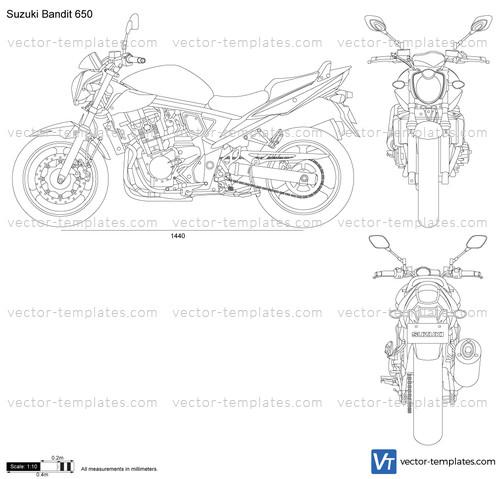 templates - motorcycles - suzuki