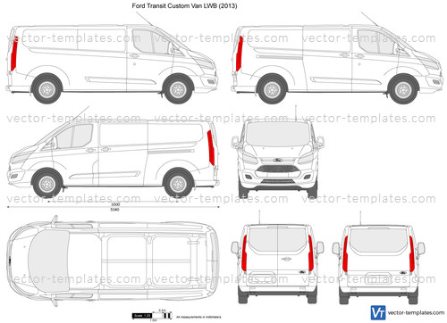 Templates Cars Ford Ford Transit Custom Lwb L2h1