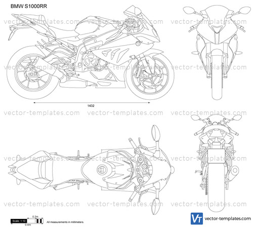 templates - motorcycles - bmw