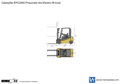 Caterpillar EPC3500 Pneumatic tire Electric lift truck