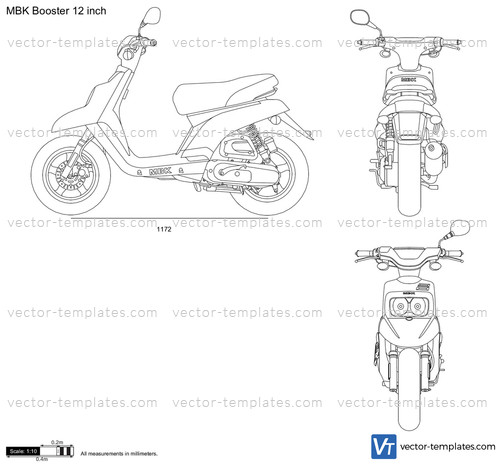 Templates Motorcycles Mbk Mbk Booster 12 Inch