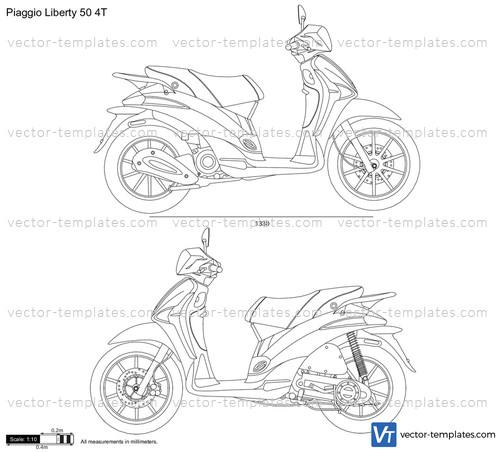 templates motorcycles piaggio piaggio liberty 50 4t. Black Bedroom Furniture Sets. Home Design Ideas