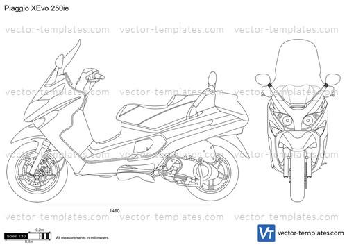 templates - motorcycles - piaggio