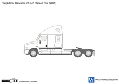 Freightliner Cascadia 72 inch Raised roof