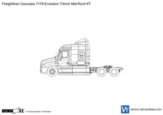 Freightliner Cascadia 7179 Evolution 70inch Mid-Roof XT
