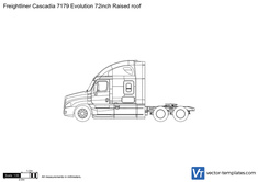 Freightliner Cascadia 7179 Evolution 72inch Raised roof
