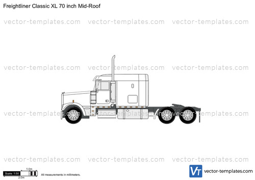 Freightliner Classic XL 70 inch Mid-Roof
