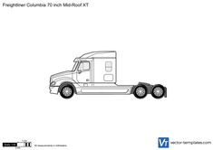 Freightliner Columbia 70 inch Mid-Roof XT