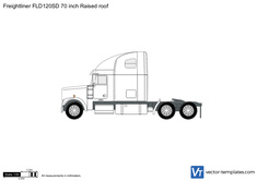 Freightliner FLD120SD 70 inch Raised roof