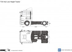 MAN TGX 4x2 Low Height Tractor