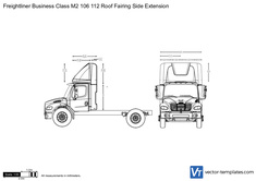 Freightliner Business Class M2 106 112 Roof Fairing Side Extension