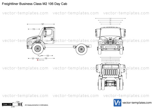drawing freightliner m2 106