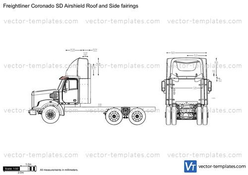 Roof Fairings For Semi Trucks : Templates trucks freightliner coronado