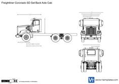 Freightliner Coronado SD Set Back Axle Cab