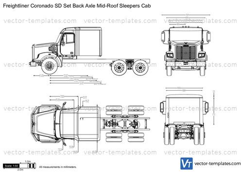 templates - trucks - freightliner