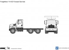 Freightliner 114 SD Forward Set Axle