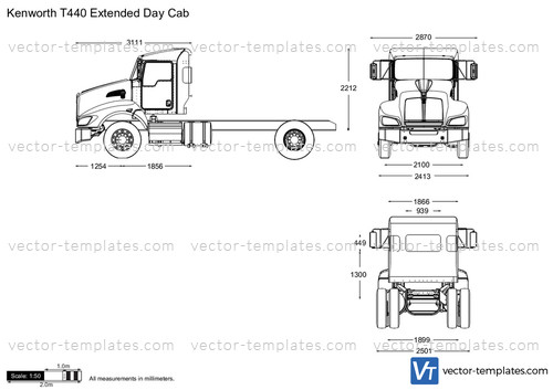 Kenworth T440 Extended Day Cab