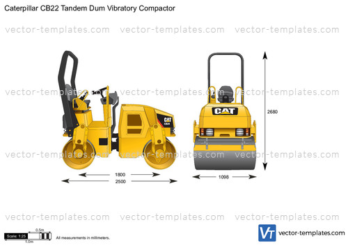 Caterpillar CB22 Tandem Dum Vibratory Compactor