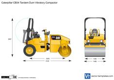 Caterpillar CB34 Tandem Dum Vibratory Compactor