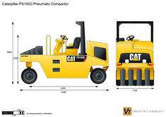 Caterpillar PS150C Pneumatic Compactor