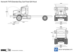 Kenworth T470 Extended Day Cad Fixed Grill Hood