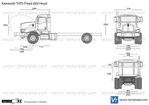 Kenworth T470 Fixed Grill Hood