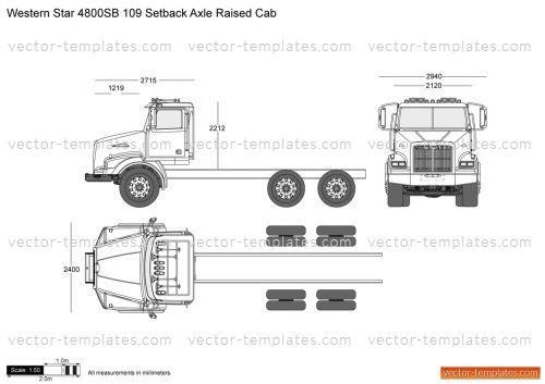 Templates - Trucks - Western Star - Western Star 4800SB 109