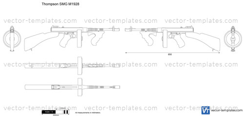 thompson machine gun coloring pages - photo#38
