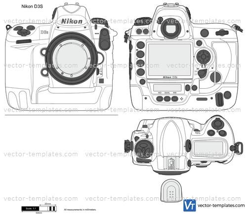 Templates - Miscellaneous - Photo cameras - Nikon D3S