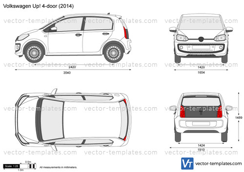 Templates Cars Volkswagen Volkswagen Up 4 Door
