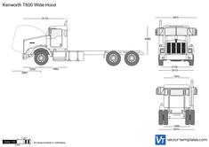 Kenworth T800 Wide Hood