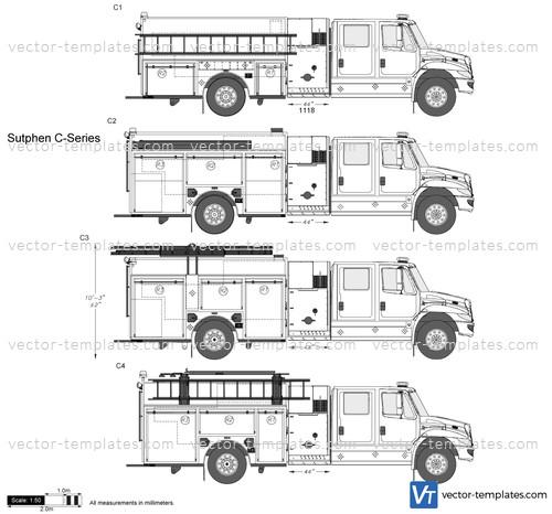 templates trucks sutphen sutphen c series fire truck