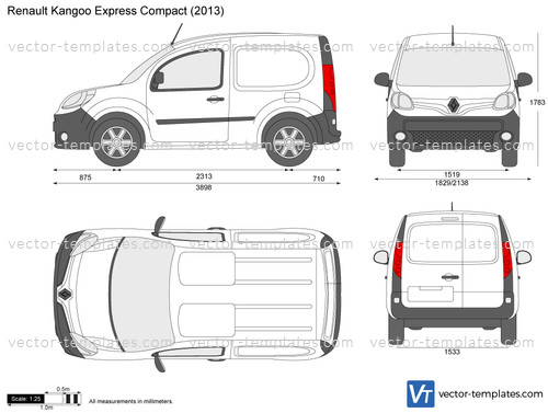 templates cars renault renault kangoo express compact. Black Bedroom Furniture Sets. Home Design Ideas