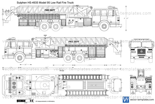 Sutphen HS-4935 Model 95 Low Rail Fire Truck