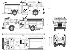 Sutphen HS-4962 Fire Truck