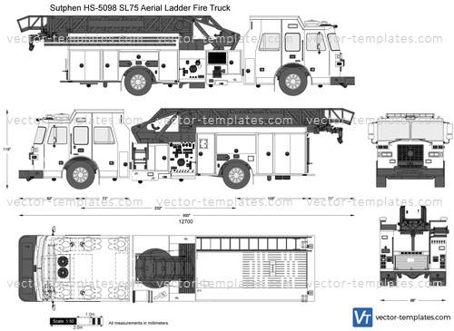 Sutphen HS-5098 SL75 Aerial Ladder Fire Truck