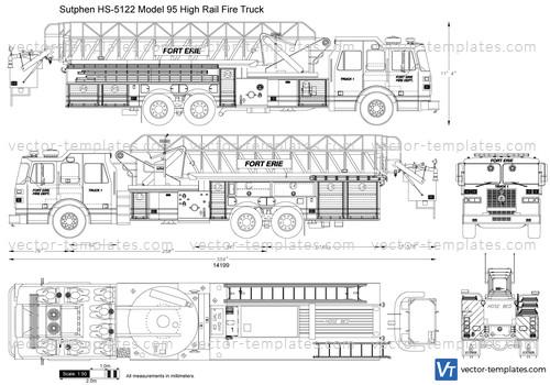 Sutphen HS-5122 Model 95 High Rail Fire Truck
