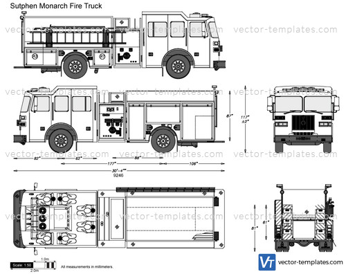 Templates trucks sutphen sutphen monarch fire truck maxwellsz