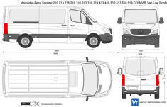 Mercedes-Benz Sprinter 210 213 216 219 310 313 316 319 413 416 510 513 516 519 CDI Van MWB Low Roof