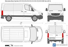 Mercedes-Benz Sprinter 210 310 216 219 310 313 316 319 CDI Van SWB