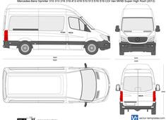 Mercedes-Benz Sprinter 310 313 316 319 413 416 510 513 516 519 CDI Van MWB Super High Roof