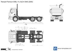 Renault Premium D06L-11L 6x2-4 3540