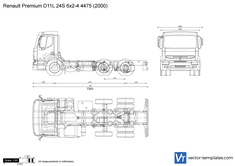 Renault Premium D11L 24S 6x2-4 4475