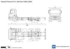 Renault Premium D11L 24S 6x2-4 4805