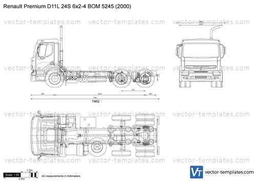 Renault Premium D11L 24S 6x2-4 BOM 5245