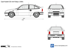 Opel Kadett GSi 4x4 Rallye