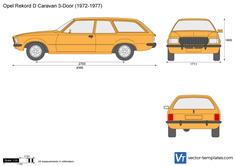 Opel Rekord D Caravan 3-Door